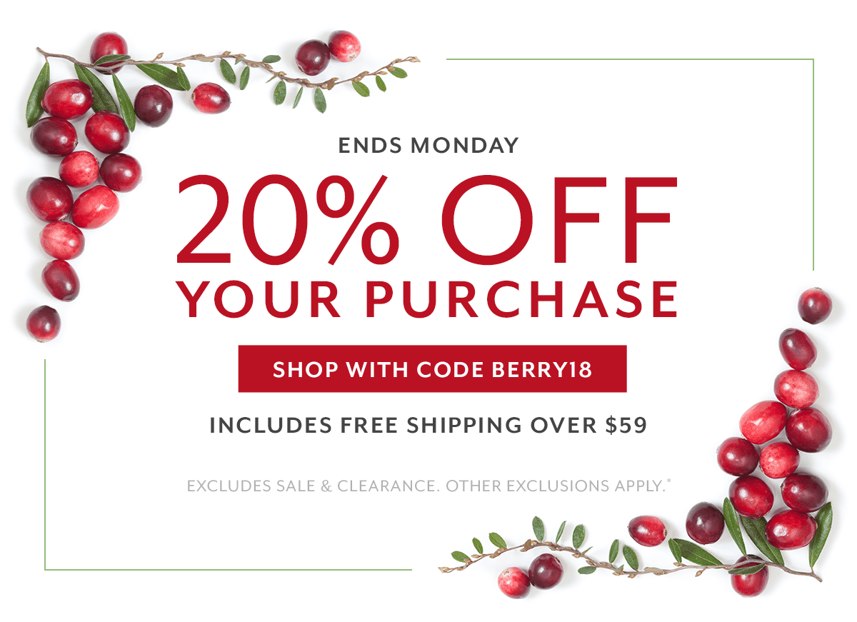 20% Off Purchase