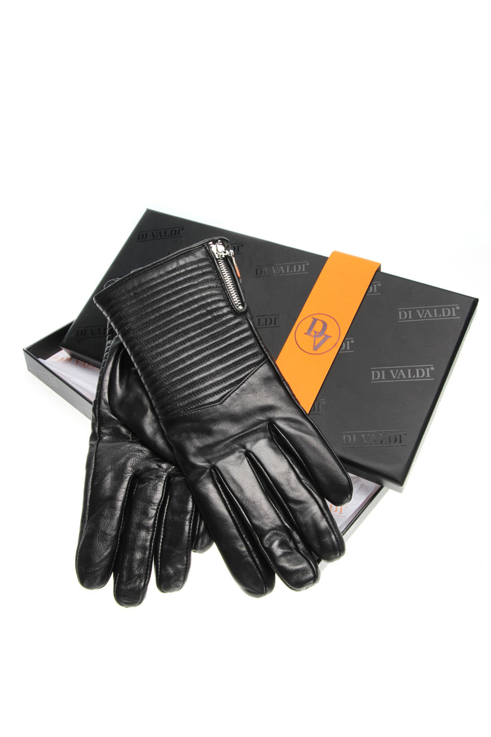 PETRA LEATHER GLOVES IN BLACK
