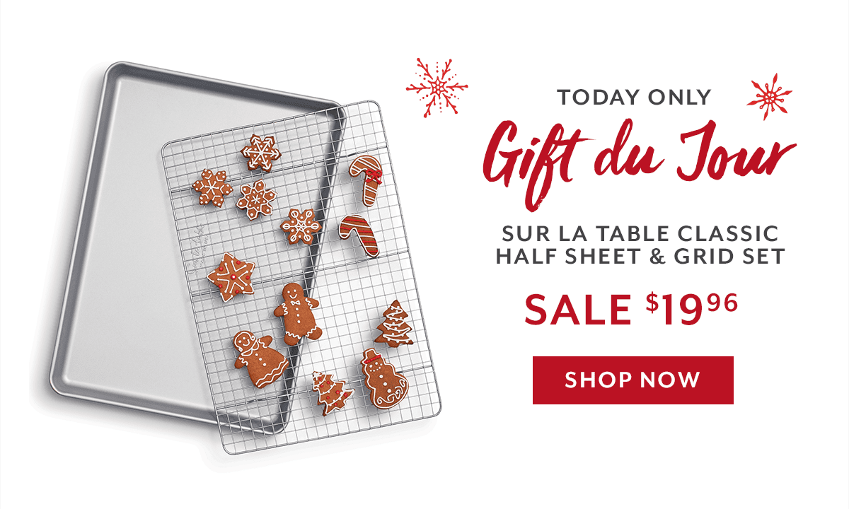 Gift du Jour • Sur La Table Classic Half Sheet & Grid Set