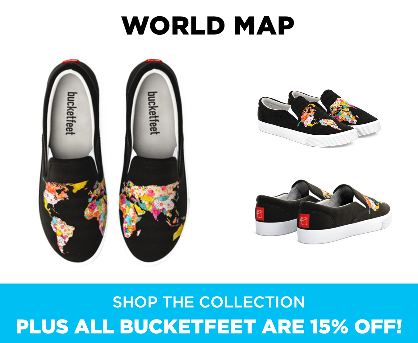 3be66dba1fc6 Bucketfeet  Meet the artist behind World Map. 🌍