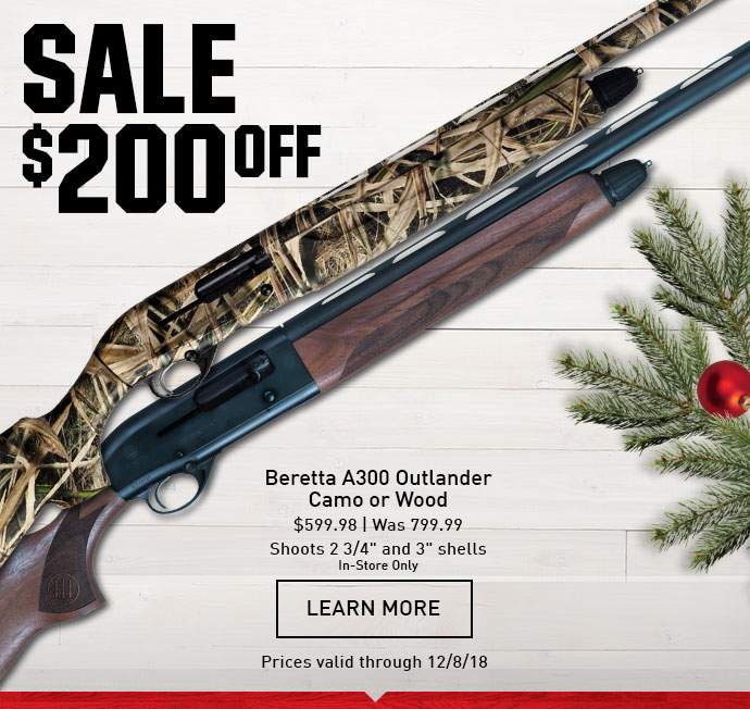 Dick S Sporting Goods Holiday Hunt Deals 200 Off Beretta A300 Outlander Firearms Milled