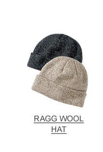 Ragg wool hats.