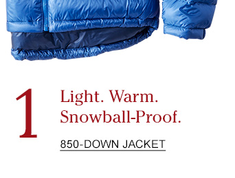 1 Light. Warm. Snowball-Proof.
