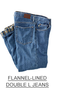 Flannel lined Jeans.
