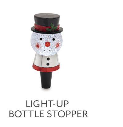 Light-Up Snowman Bottle Stopper