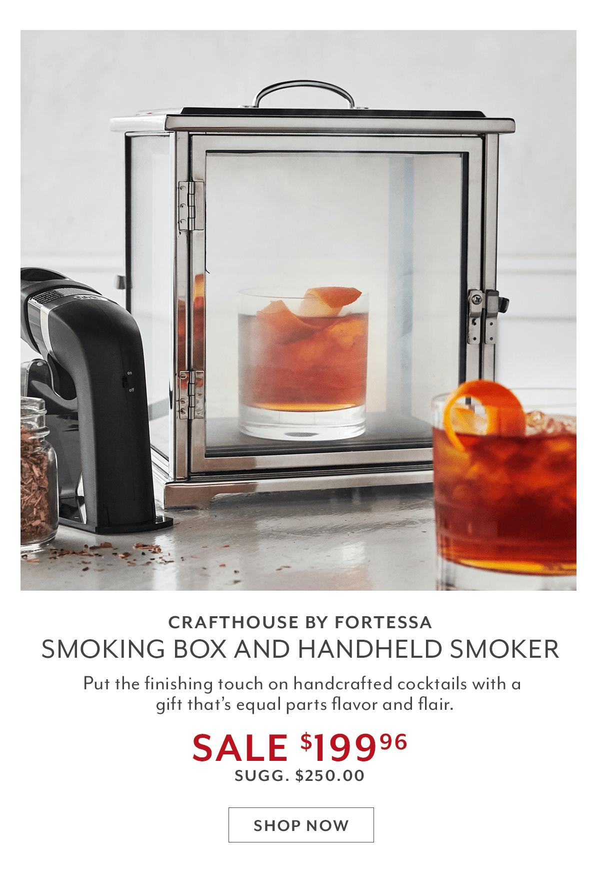 Fortessa Smoking Box and Handheld Smoker