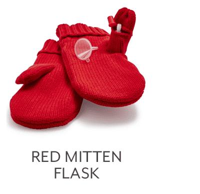 Red Mitten Flask