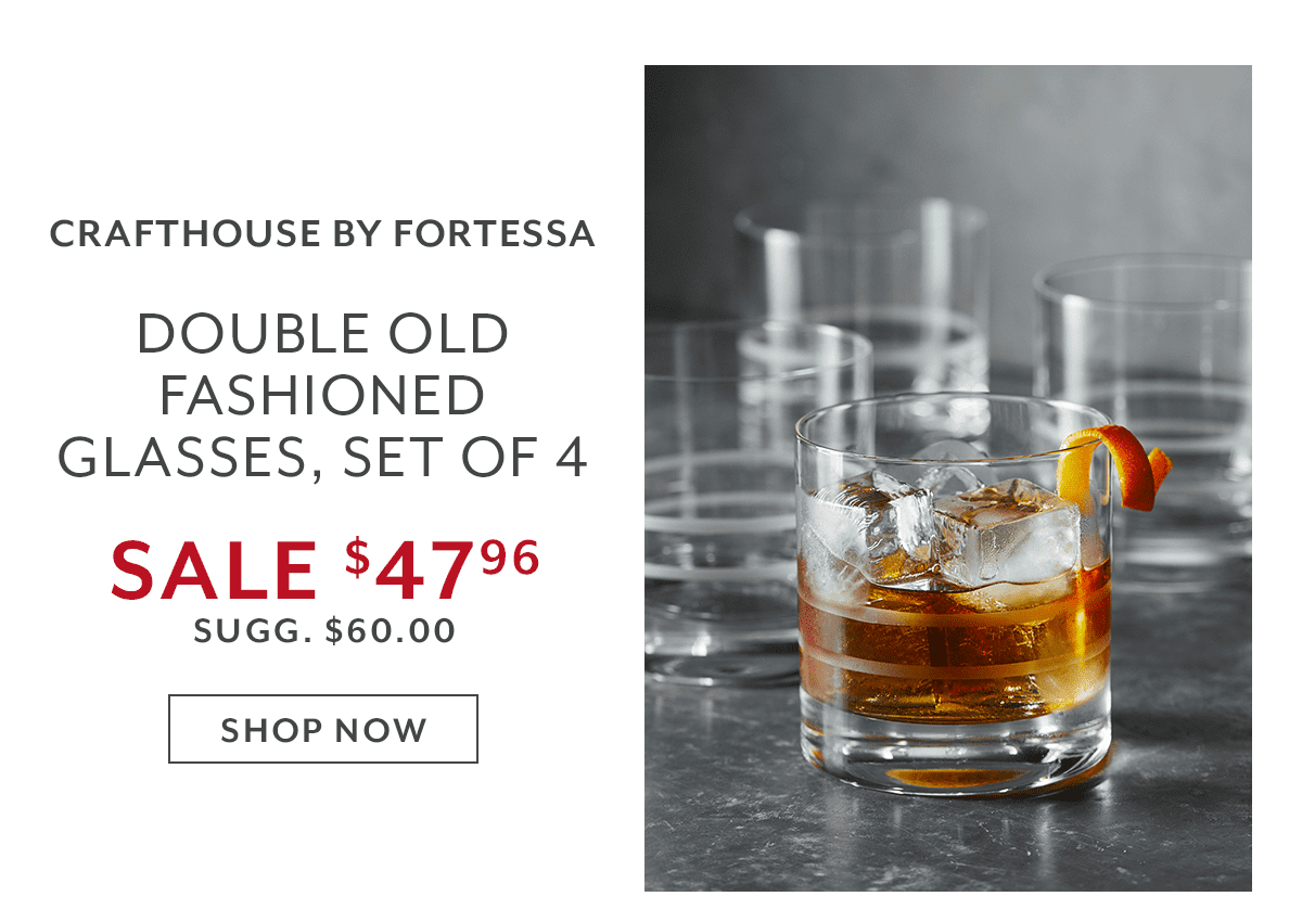 Fortessa Double Old Fashioned Glasses, Set of 4