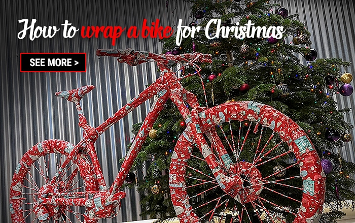 How to wrap a bike for Christmas