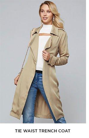 Tie Waist Trench Coat