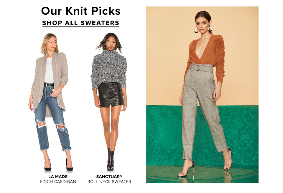 Our Knit Picks. Shop All Sweaters.