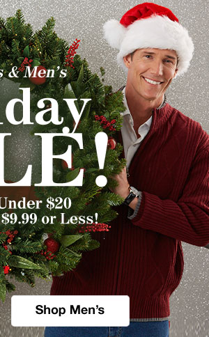 Shop Mens's Holiday Sale!