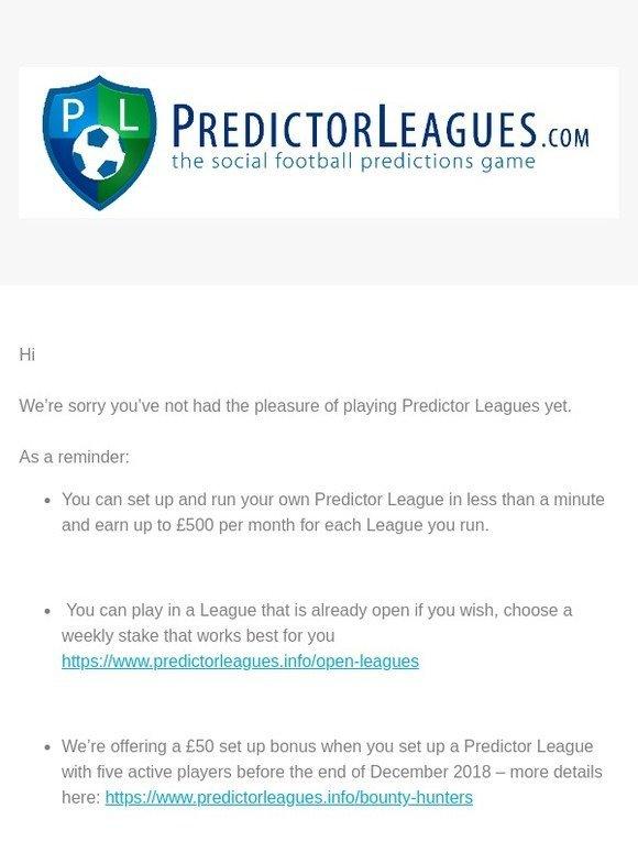 Predictor Leagues: Predictor Leagues Bonus Offer | Milled