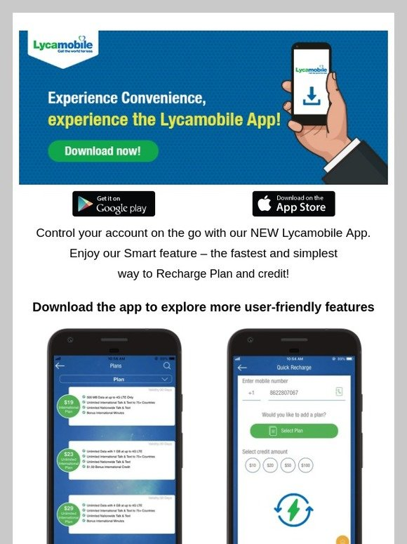 Lycamobile USA: Download the Lycamobile app today! | Milled