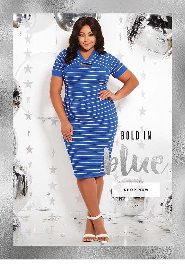 Bold in blue - Shop Now