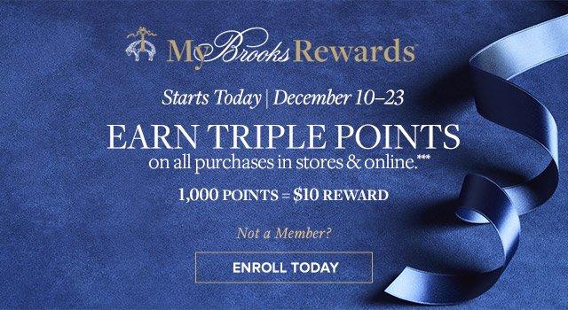 MY BROOKS REWARDS | EARN TRIPLE POINTS | ENROLL TODAY