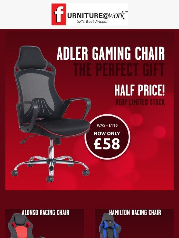 Marvelous Furniture Work Adler Gaming Chair Only 58 Now Half Price Creativecarmelina Interior Chair Design Creativecarmelinacom