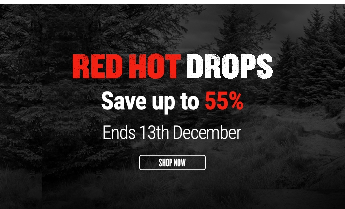 Red Hot Drops: Save up to 55% - Ends 13th December