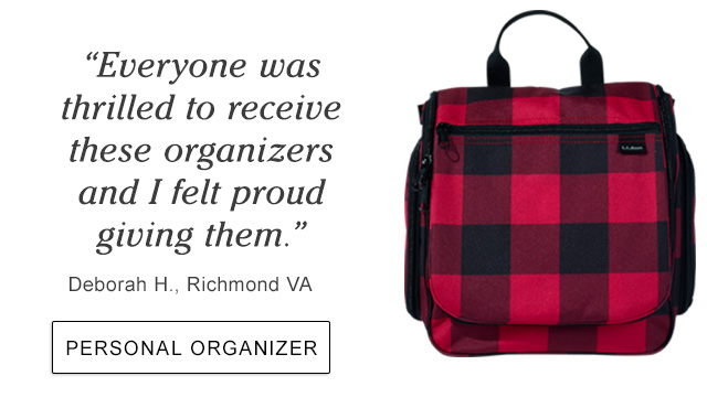 """""""Everyone was thrilled to receive these organizers and I felt proud giving them."""" Marcia R., Lexington KY."""