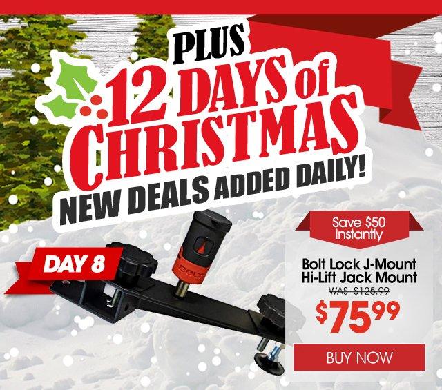 Buy a Bolt Lock J-Mount Hi-Lift Jack Mount and save $50 instantly