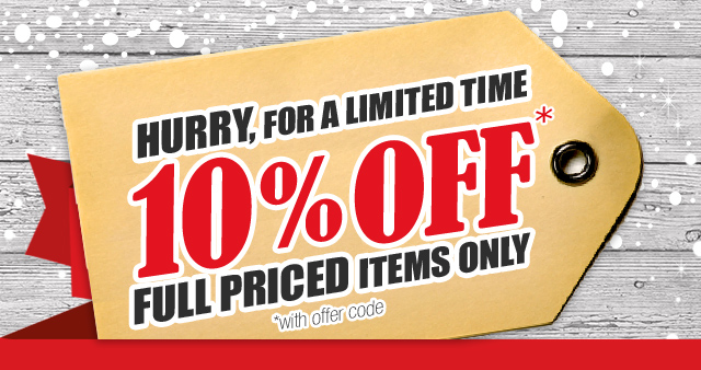 10% Off Orders over $300 - Full priced items only.