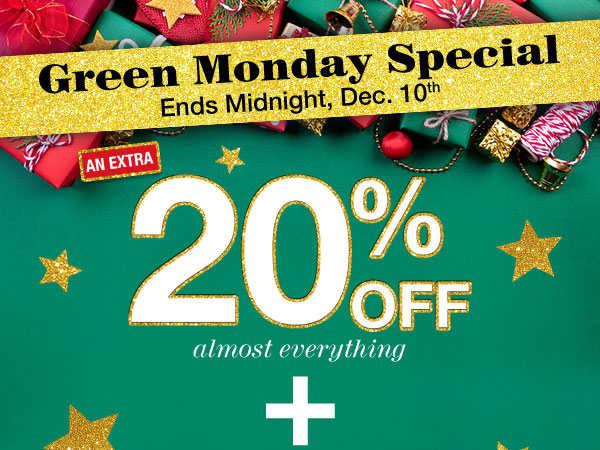 Get 20% Off almost everything PLUS FREE Shipping on orders of $25 or more! Use promo code GFT4U at checkout.