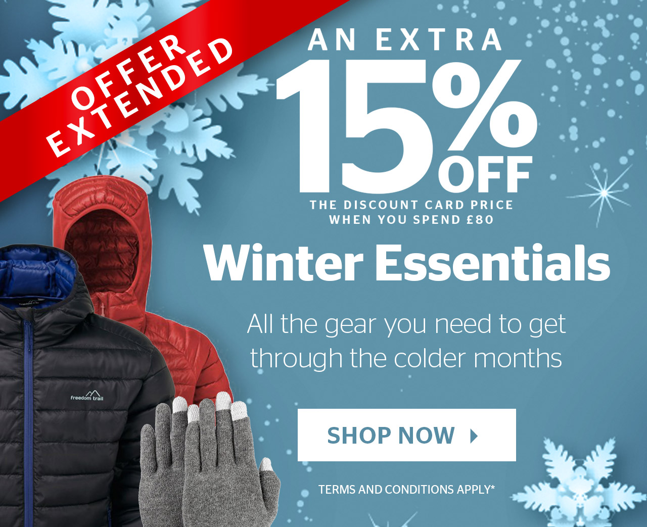 An Extra 15% Off Winter Essentials