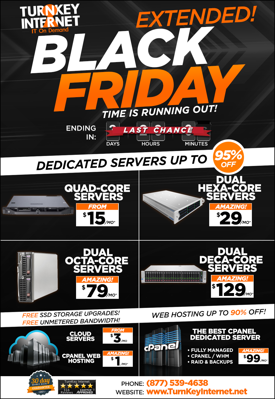 Turnkey Internet Black Friday Prices Last Chance Milled