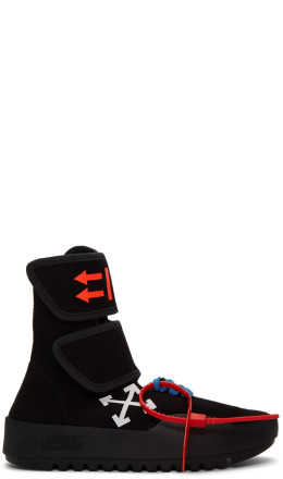 Off-White - Black Moto Wrap High-Top Sneakers
