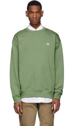Acne Studios - Green Forba Face Sweatshirt