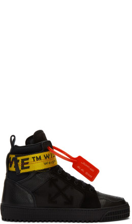 Off-White - Black Industrial High-Top Sneakers