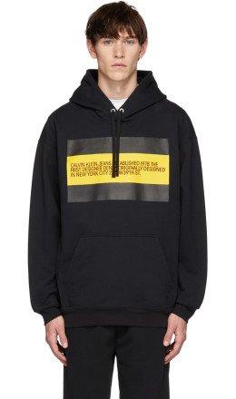 Calvin Klein Jeans Est. 1978 - Black 'Est. 1978' Patch Hoodie