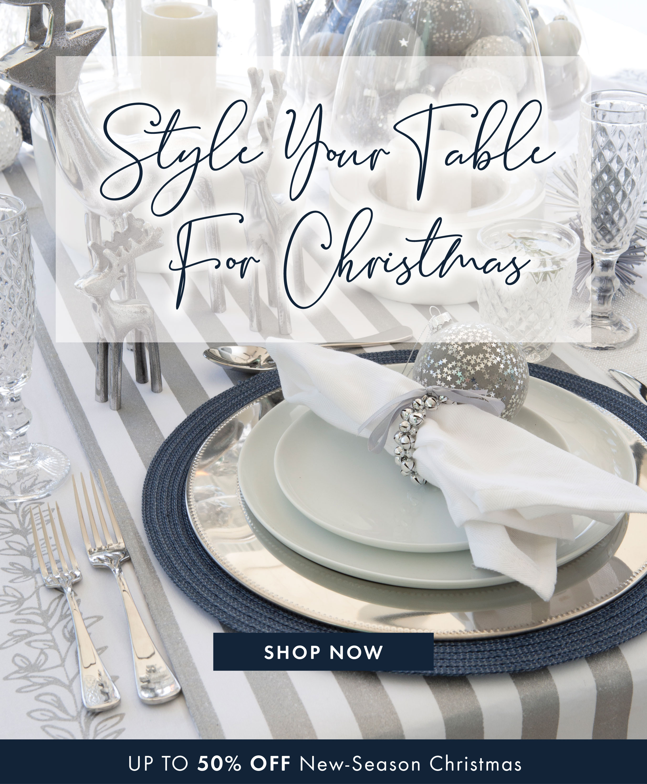 Pillow Talk: Is your Christmas table ready? Up to 50% off new-season ...