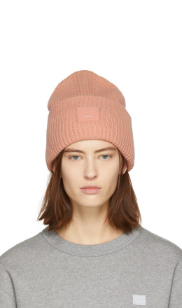 Acne Studios - Pink Pansy N Face Beanie