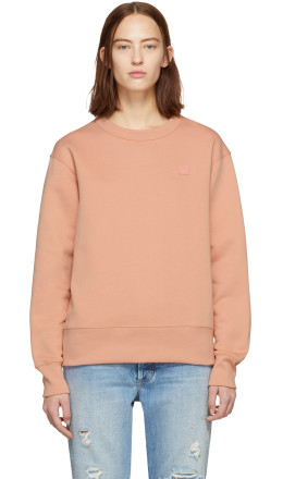 Acne Studios - Pink Oversized Fairview Face Sweatshirt