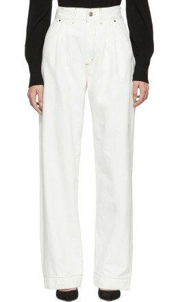 Goldsign - White 'The Trouser' Jeans