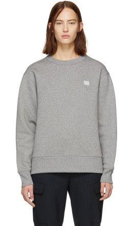 Acne Studios - Grey Oversized Fairview Face Sweatshirt