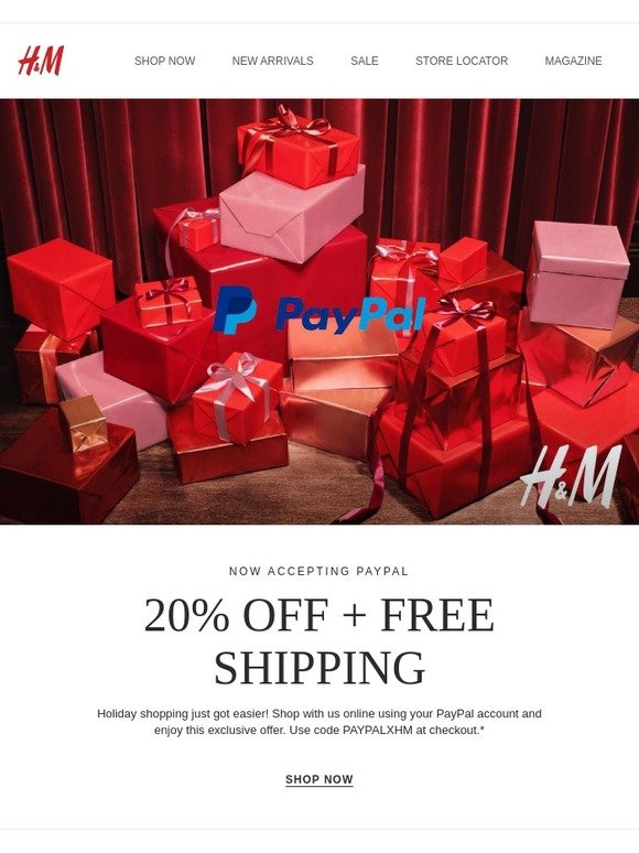 H&M: Attn: We now offer PayPal at hm com! | Milled
