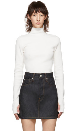 Helmut Lang - White Essential Turtleneck