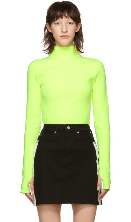 Helmut Lang - Yellow Essential Turtleneck