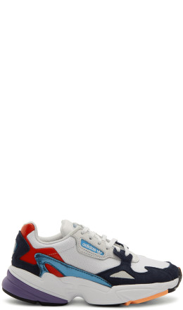 adidas Originals - White & Navy Falcon Sneakers