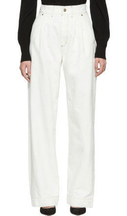 Goldsign - White 'The Trouser' Jeans