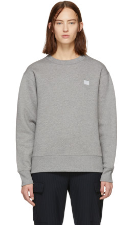 Acne Studios - Grey Oversized Fairview Face Sweatshirt