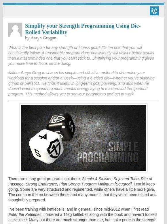 16 Week Athletic Domination Program: [New post] Simplify