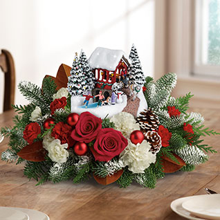 Thomas Kinkade's Snowfall Dreams Bouquet