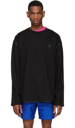 Acne Studios - Black Ferke Face Sweatshirt