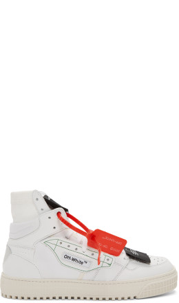 Off-White - White Low 3.0 Off Court High-Top Sneakers
