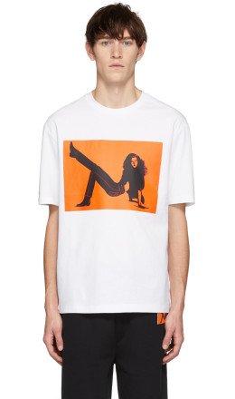 Calvin Klein Jeans Est. 1978 - White & Orange Icon Printed T-Shirt