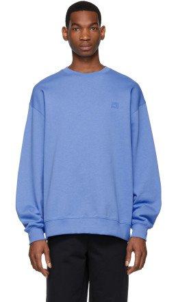 Acne Studios - Blue Oversized Fairview Face Sweatshirt