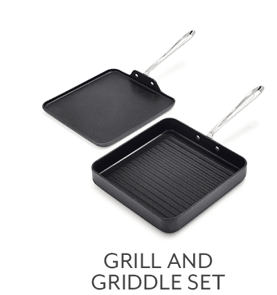 HA1 Nonstick Grill and Griddle, Set of 2